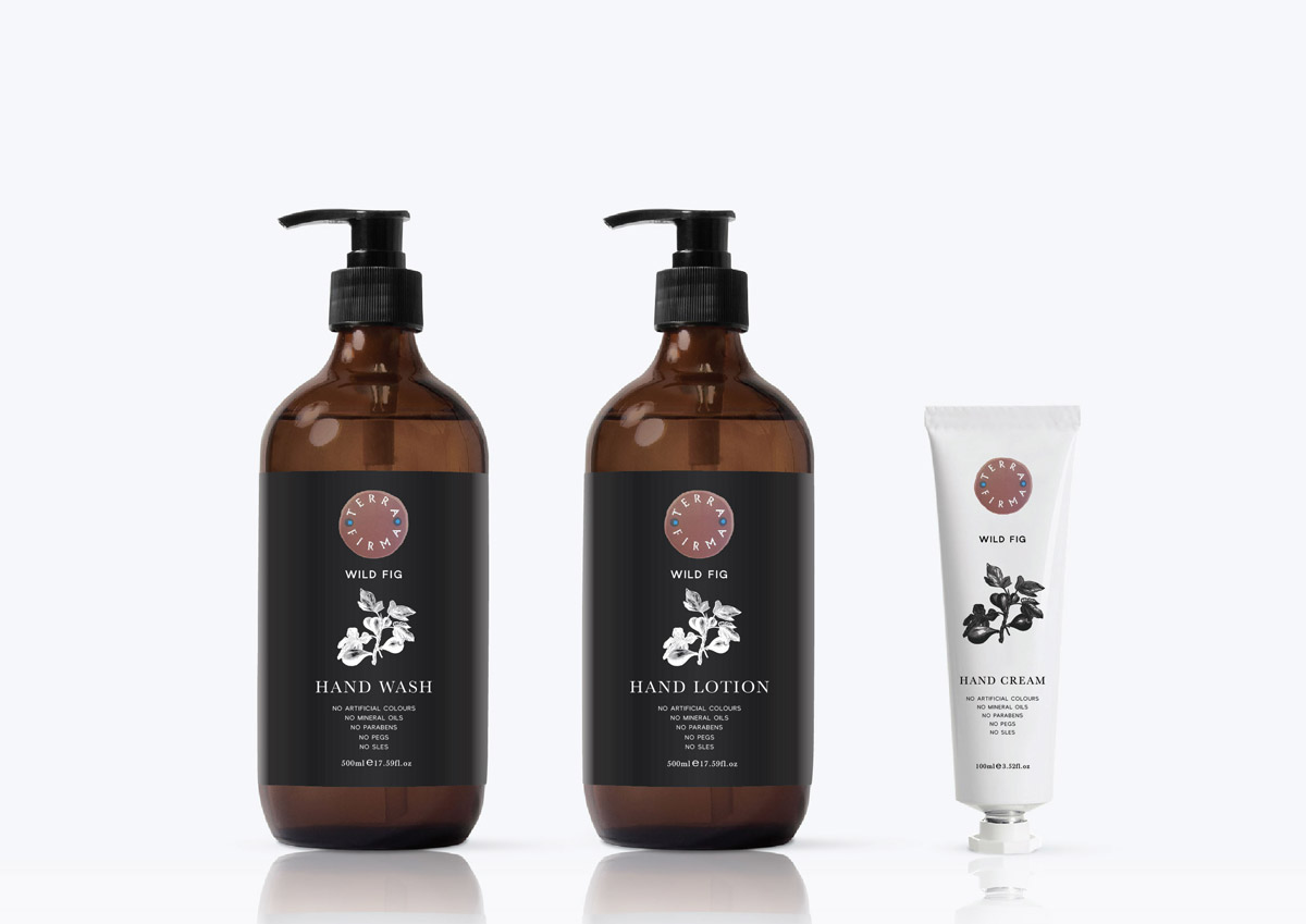 Hand wash, lotion & cream label design